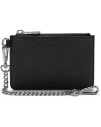 Mulberry Coin Zipped Wallet In Black Heavy Grain