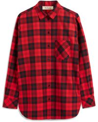 Mulberry Tallulah Shirt In Scarlet Tartan Canvas - Red