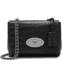 Mulberry Lily In Black Matte Croc