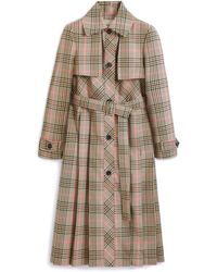 Mulberry Alison Coat In Beige Tartan Check - Natural