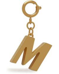 Mulberry Alphabet Brass Keyring - M In Gold Brass - Metallic