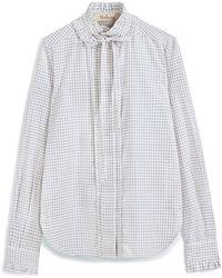 Mulberry Abbey Shirt In White Poplin