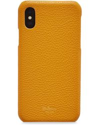 Mulberry Iphone X/xs Cover In Deep Amber Small Classic Grain - Multicolour