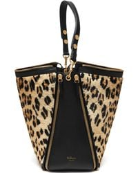 Mulberry - Camden Leopard-Print Calf Hair And Leather Tote Bag - Lyst