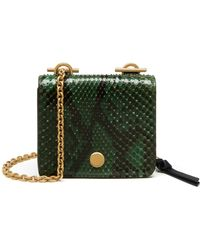 c8129741c678 Mulberry - Clifton Leather And Python Chain Purse - Lyst