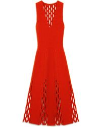 Mulberry Agnes Fluted Dress - Red