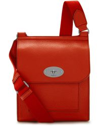 Mulberry Small Antony In Hibiscus Red Small Classic Grain