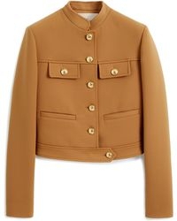 Mulberry Ana Jacket In Camel Cavalry Twill - Natural