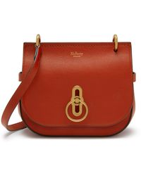 Mulberry Small Amberley Satchel In Rust Silky Calf - Brown