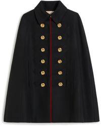 Mulberry Esme Coat In Black Winter Twill
