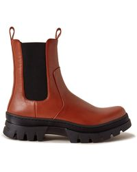 Mulberry Hoxton Chelsea Ranger Bootie In Rust Smooth Calfskin - Brown