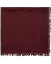 Mulberry Tree Square In Burgundy Silk Cotton - Purple