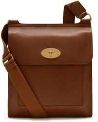 Mulberry Antony Messenger In Oak Natural Grain Leather - Brown
