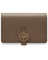 Mulberry - Tree Card Holder Wallet In Clay Cross Grain Leather - Lyst