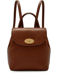 Mulberry - Mini Bayswater Backpack In Oak Natural Grain Leather - Lyst