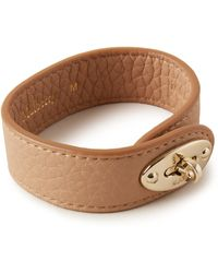 Mulberry Bayswater Leather Bracelet In Light Salmon Small Classic Grain - Brown