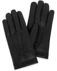 Mulberry Men's Soft Nappa Gloves In Black Nappa Leather