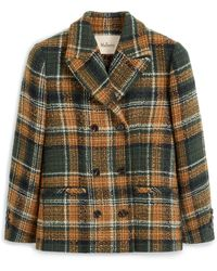 Mulberry Beatrix Jacket In Green Tweed Check