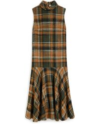 Mulberry Lexi Dress In Green Tweed Check