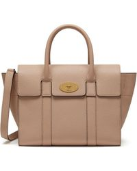 833ffc4d64 Mulberry - Small Bayswater In Rosewater Small Classic Grain - Lyst
