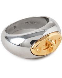 Mulberry Bayswater Ring In Silver And Gold Silver Plated Brass - Metallic