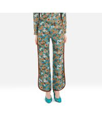 Mulberry - Sadie Trousers In Minty Green Wild Flower Light Crepe - Lyst
