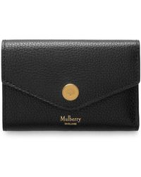 Mulberry Folded Multi-card Wallet In Black Small Classic Grain Leather
