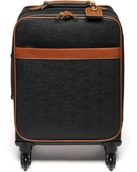 Mulberry Four Wheel Trolley In Black And Cognac Scotchgrain