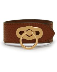 Mulberry - Amberley Bracelet In Oak Natural Grain Leather - Lyst
