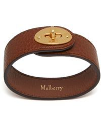Mulberry Bayswater Leather Bracelet In Oxblood - Multicolour