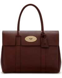 Mulberry Bayswater In Oxblood Natural Grain Leather - Multicolor