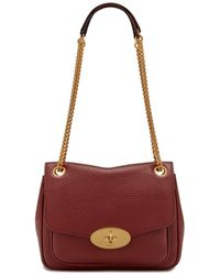 Mulberry - Small Darley Shoulder Bag In Crimson Heavy Grain - Lyst