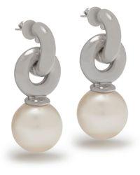 Mulberry Grace Small Earrings In Palladium - Metallic