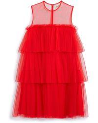 Mulberry Jillian Dress In Lipstick Red Tulle