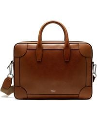 Mulberry Belgrave Full-grain Leather Briefcase - Brown