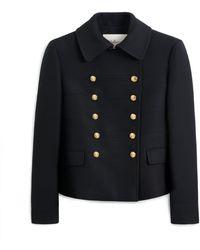 Mulberry Lorna Jacket In Black Winter Twill