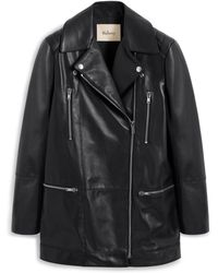 Mulberry Jessie Jacket In Black Nappa Leather