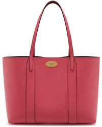 Mulberry - Bayswater Tote In Geranium Pink Small Classic Grain - Lyst