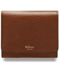8e0fa36a0a Mulberry - Small Continental French Purse In Oak Natural Grain Leather -  Lyst