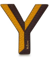 Mulberry Bi-colour Leather Sticker - Y In Deep Amber Silky Calf - Multicolour
