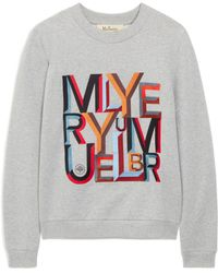 Mulberry Prudence Sweatshirt In Multicolour And Grey Alphabet Cotton Jersey