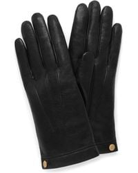 Mulberry Soft Nappa Leather Gloves In Black Nappa Leather