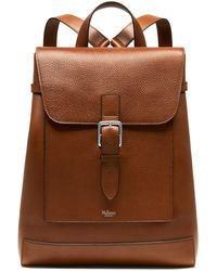 Mulberry Chiltern Backpack In Oak Natural Grain Leather - Brown