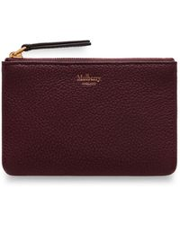 23cdcc82bea Mulberry - Zip Coin Pouch In Burgundy Small Classic Grain - Lyst
