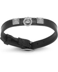 Mulberry Pyramid Large Bracelet In Black And Silver - Metallic