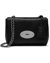 112881c63a28 Mulberry - Lily In Black - Silver Toned Glossy Goat Leather - Lyst