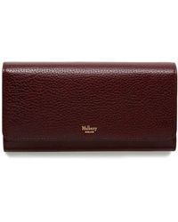 Mulberry - Continental Wallet In Oxblood Natural Grain Leather - Lyst