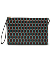 Mulberry - Pouch In Palm Green Printed Saffiano - Lyst