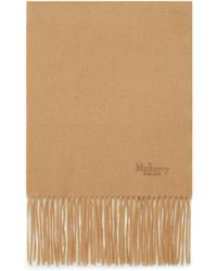 Mulberry Cashmere Scarf In Dark Camel Cashmere - Natural