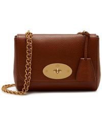 Mulberry Lily In Oak Natural Grain Leather - Brown